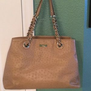 Kate Spade Maryanne bag/tote ostrich EUC